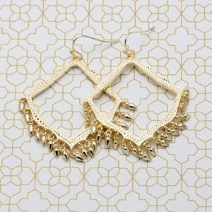 Kendra Scott Lacy Drop Earrings in Gold